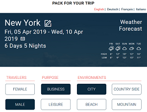 travelerbuddy features packing list tool