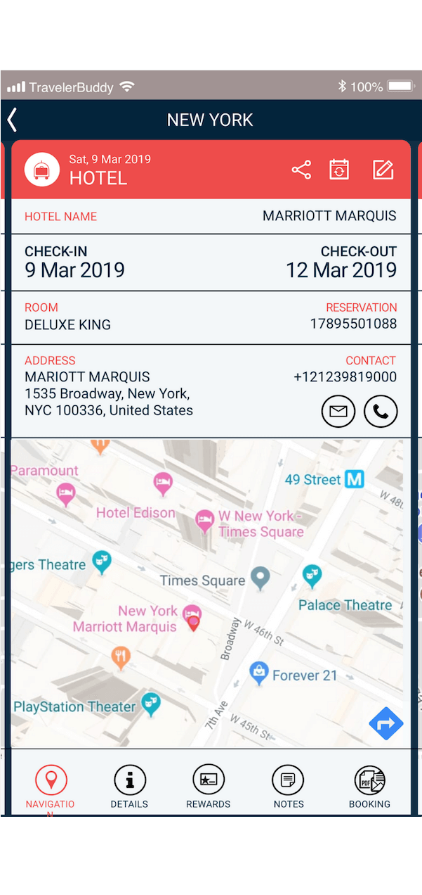 travelerbuddy features map locator